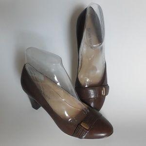Karen Scott Leather Upper Brown Shoes